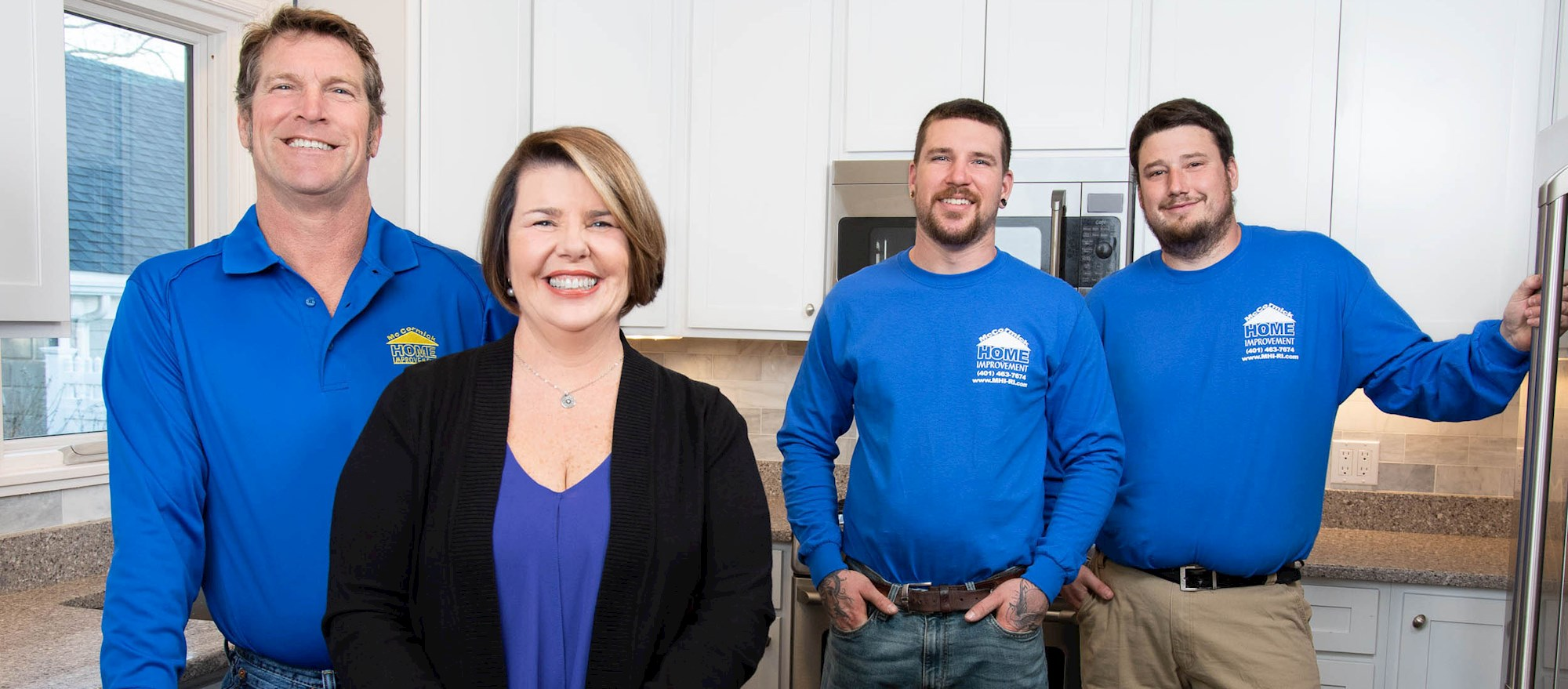 the 4 MHI team  members - Home Kitchen and Bath Remodeling Company - Rhode Island